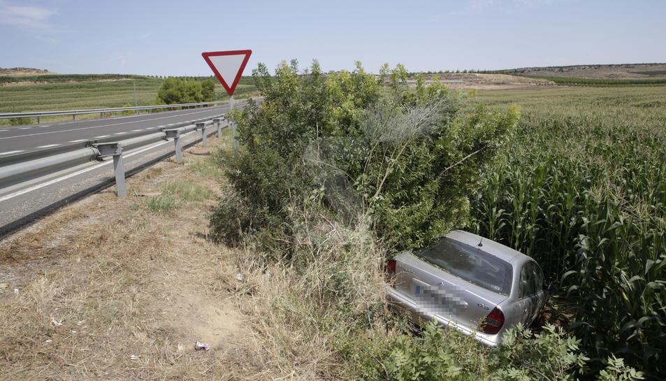 Dos ferits en un accident a Sarroca de Lleida