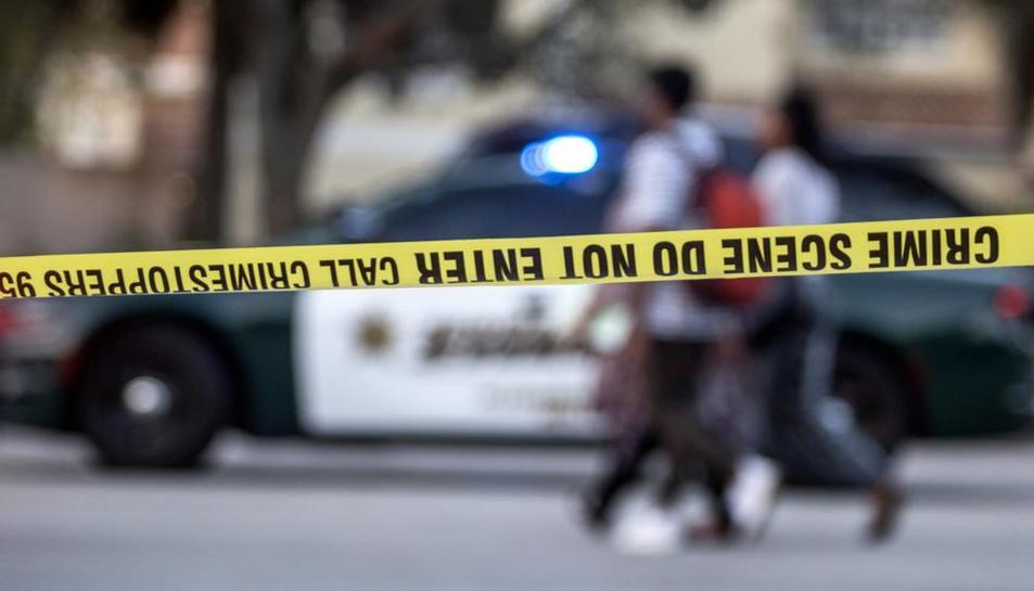 Cordó policial després d'un tiroteig als EUA.