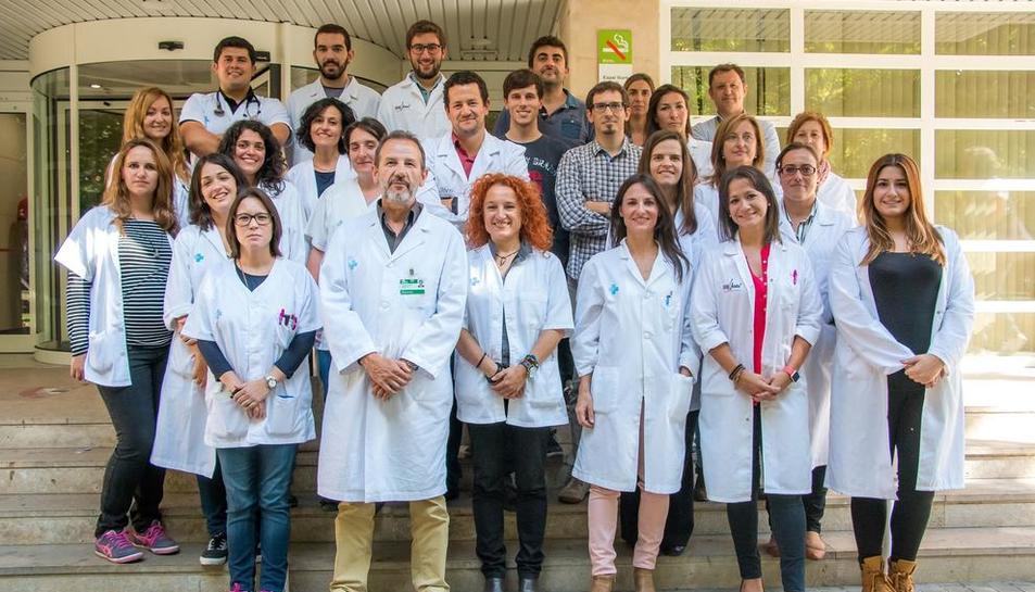 Foto de família dels investigadors de Lleida, liderats pel doctor Ferran Barbé.
