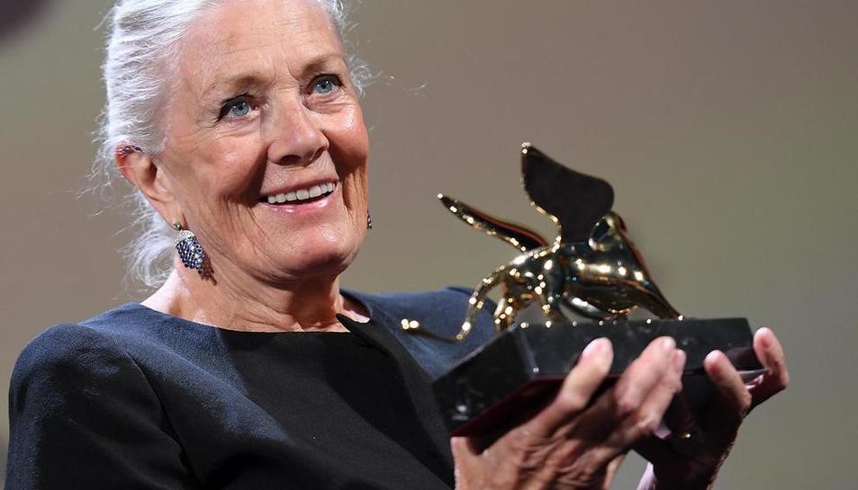 La veterana actriu britànica Vanessa Redgrave va agrair en un fluid italià el reconeixement.
