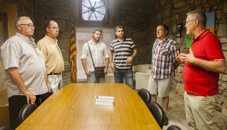 Reunión de los alcaldes del Urgell el pasado 4 de agosto.