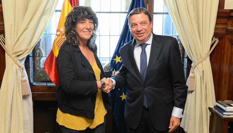 La consellera y el ministro en su reunión ayer en Madrid.
