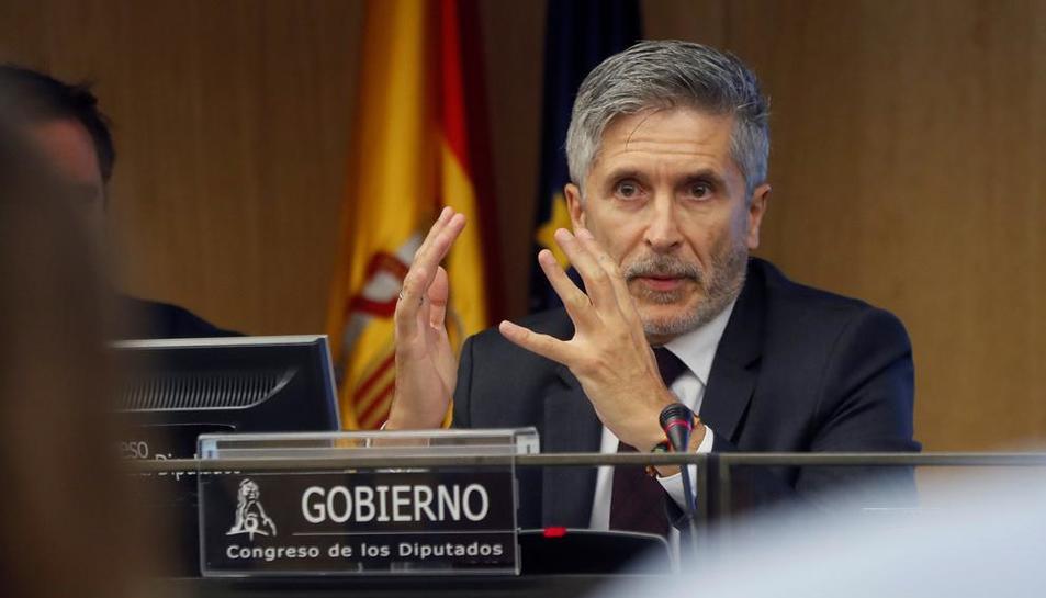 Fernando Grande-Marlaska compareció a petición propia ante la Comisión del Congreso.