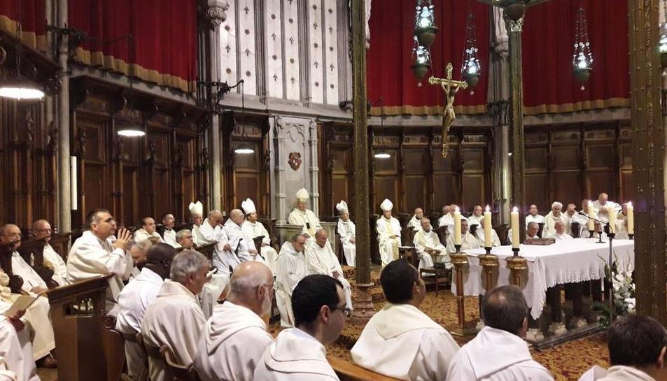 Imagen de la celebración del 425 aniversario del Bisbado de Solsona.