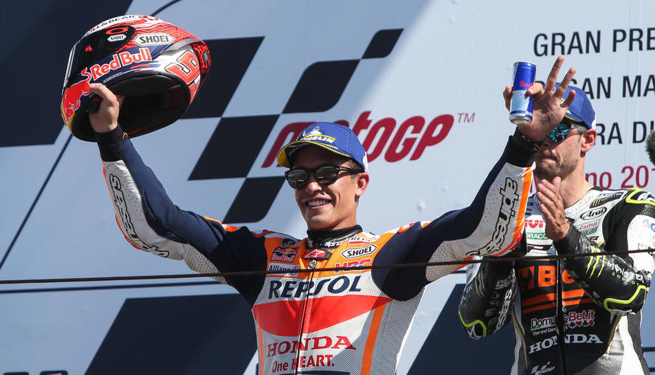 Marc Màrquez celebró el domingo su podio número 112 desde que inicio su carrera en el Mundial.