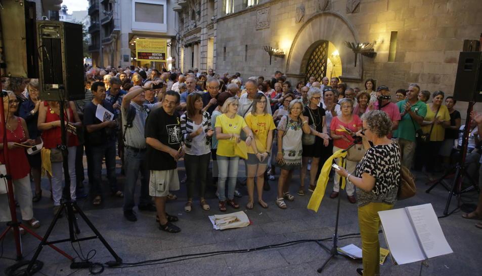 Cantaires de Ponent, ahir a la plaça Paeria.