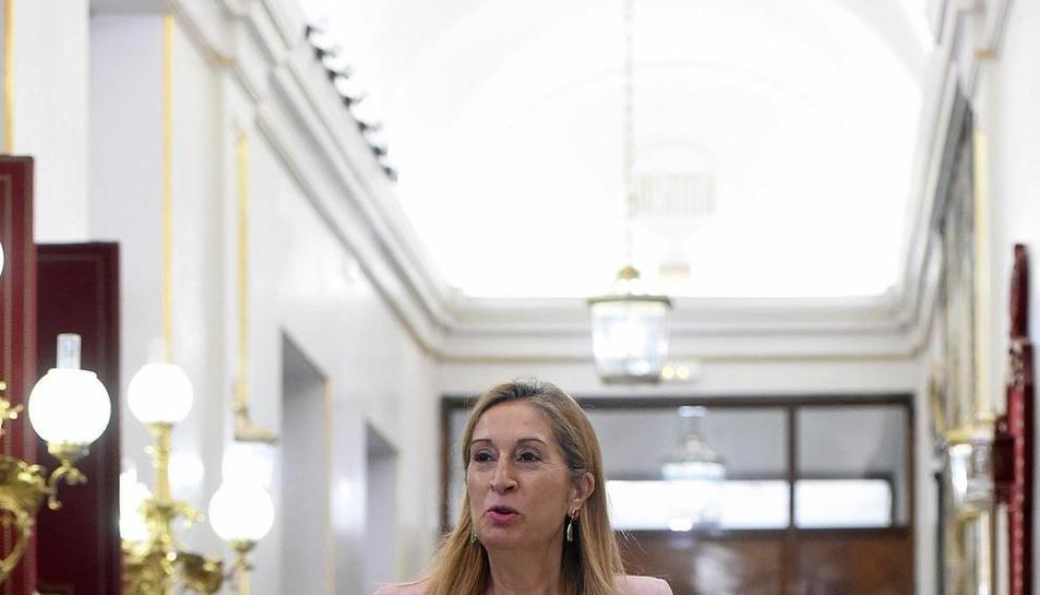 La presidenta del Congrés, Ana Pastor, a l'arribar al Congrés dels Diputats.