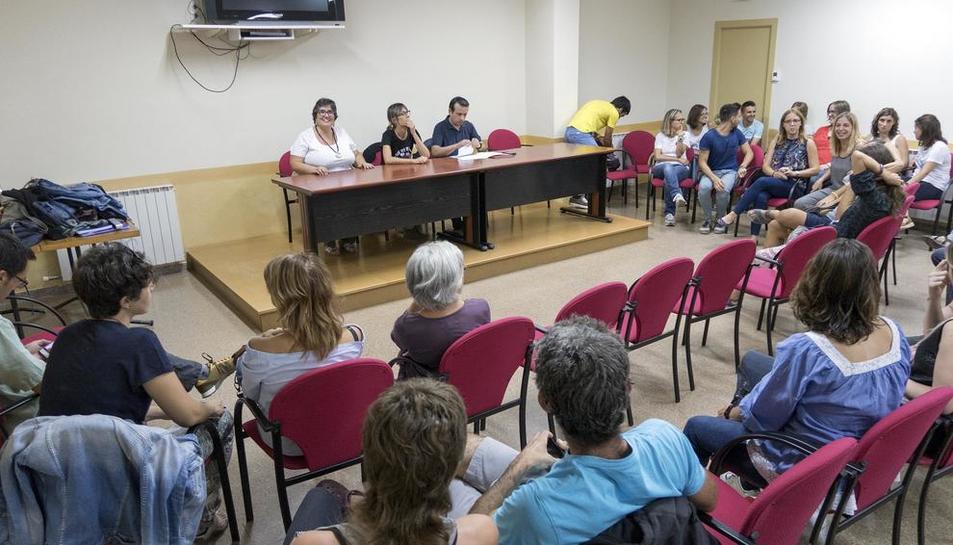 La reunió de dimarts passat al local social de Sant Ramon.