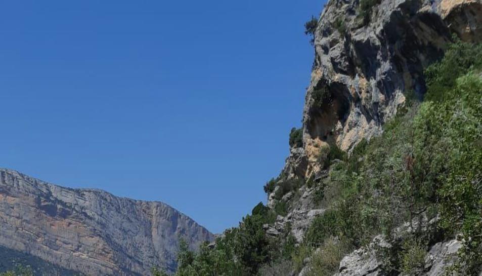 Imatge del camí d'accés a Mont-rebei.