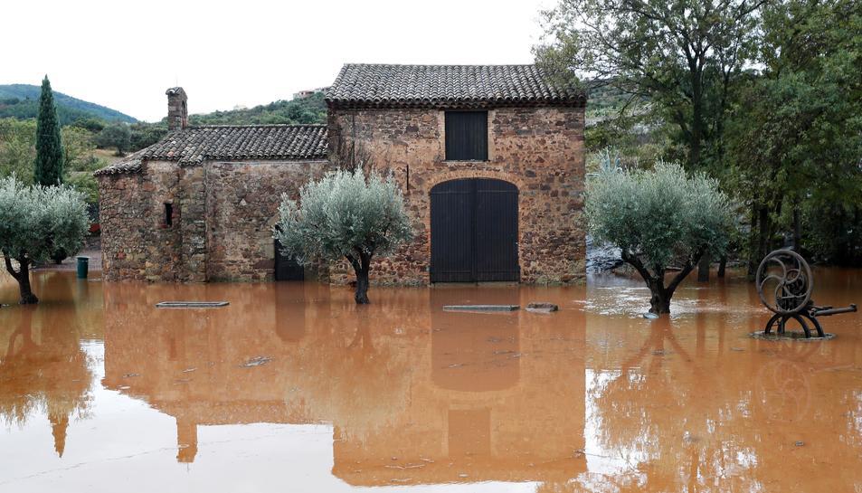 Una zona inundada prop del riu Argens.