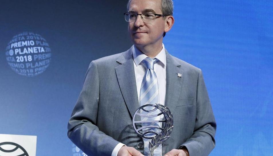 El escritor valenciano Santiago Posteguillo, premio Planeta 2018.