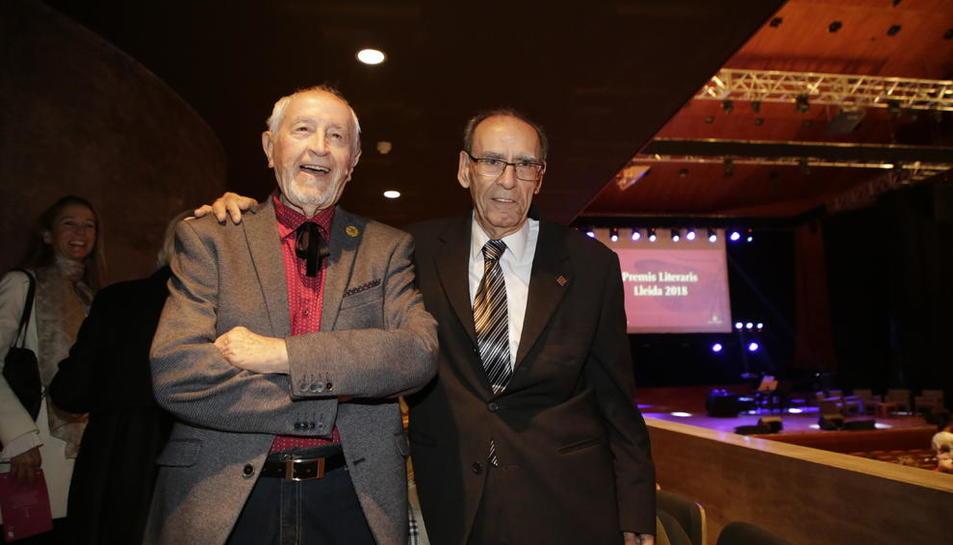 Josep Vallverdú i Jordi Pàmias, dos protagonistes de la vetllada.