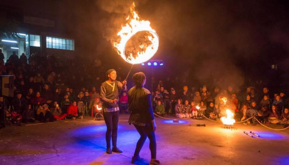 Uno de los espectáculos que se pudieron ver ayer en Talarn.