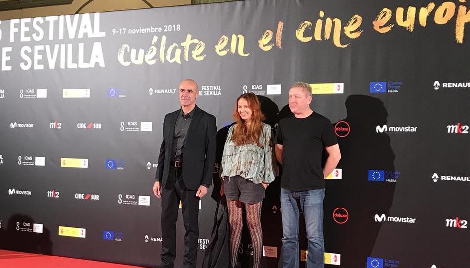 Zauberman (centre) i Billingham (dreta), directors amb premi.