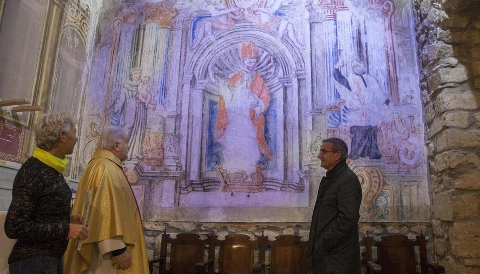 Imagen de las pinturas barrocas que se han restaurado.