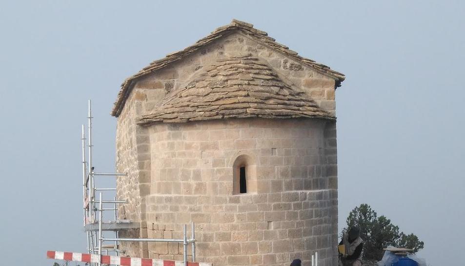 Els últims treballs que es realitzen a l'ermita.