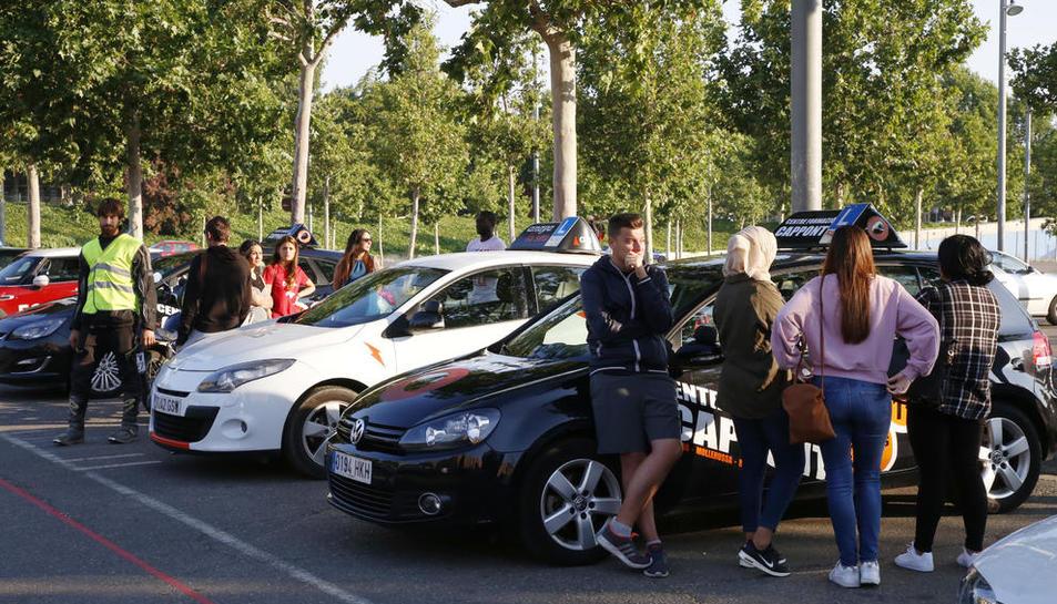 Alumnes que es van quedar sense poder fer l'examen l'any passat a Lleida a causa de la vaga.