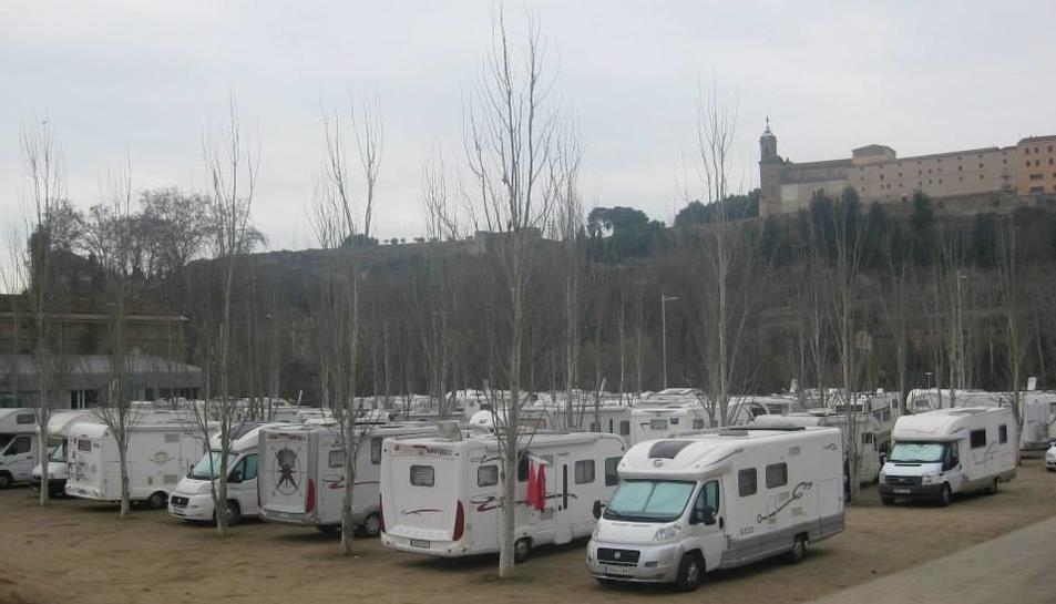 Uno de los encuentros de autocaravanas en Balaguer.