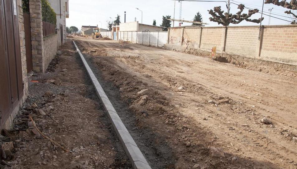 Les obres de la primera fase de l'avinguda de l'Esport.