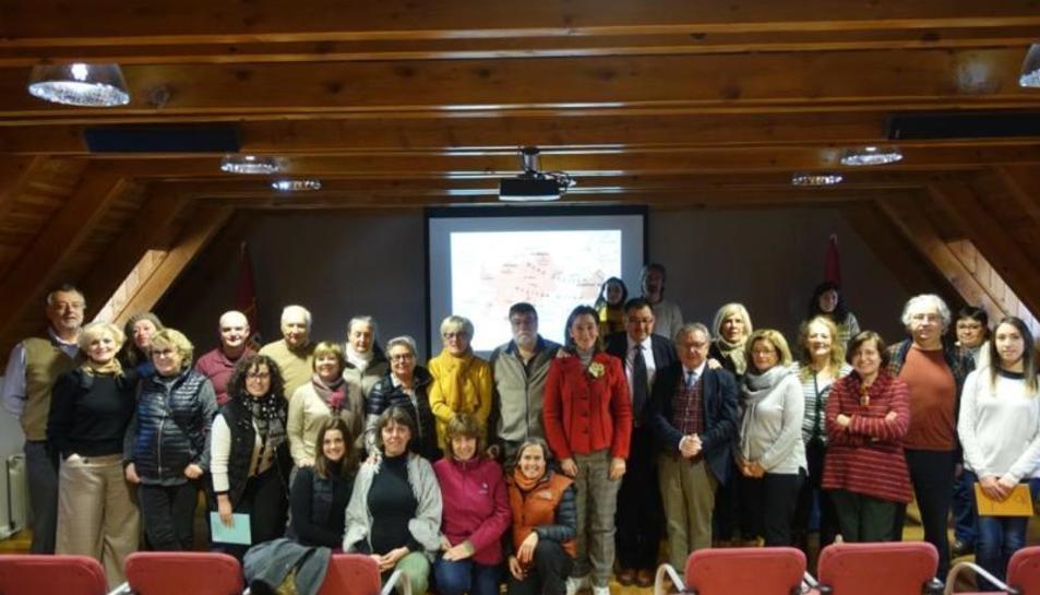 Els investigadors que han participat en la primera universitat aranesa sobre el patrimoni.
