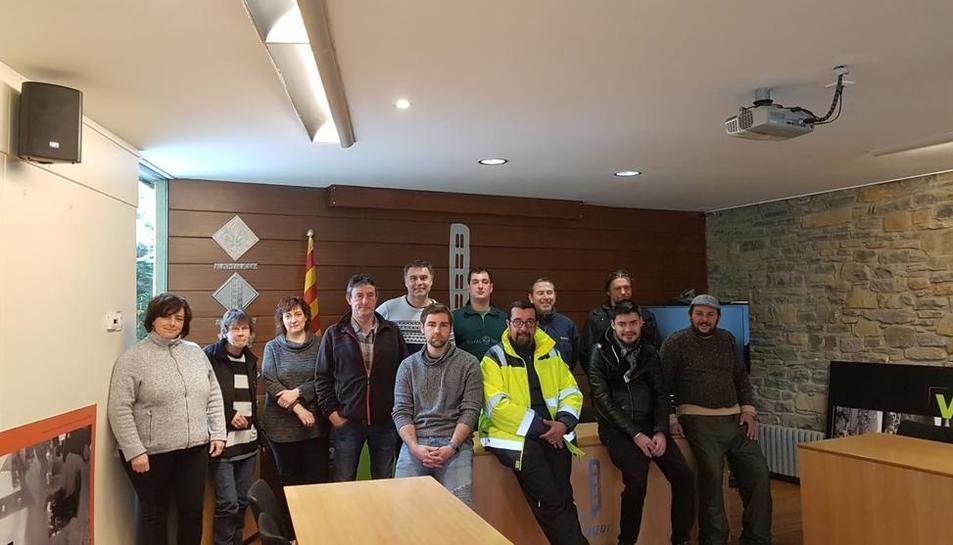 Les persones contractades pel consell de l'Alta Ribagorça.