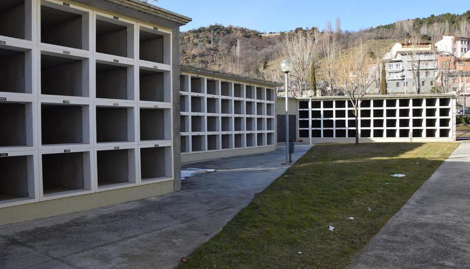 L'hivernacle estarà ubicat a la zona nova del cementiri.