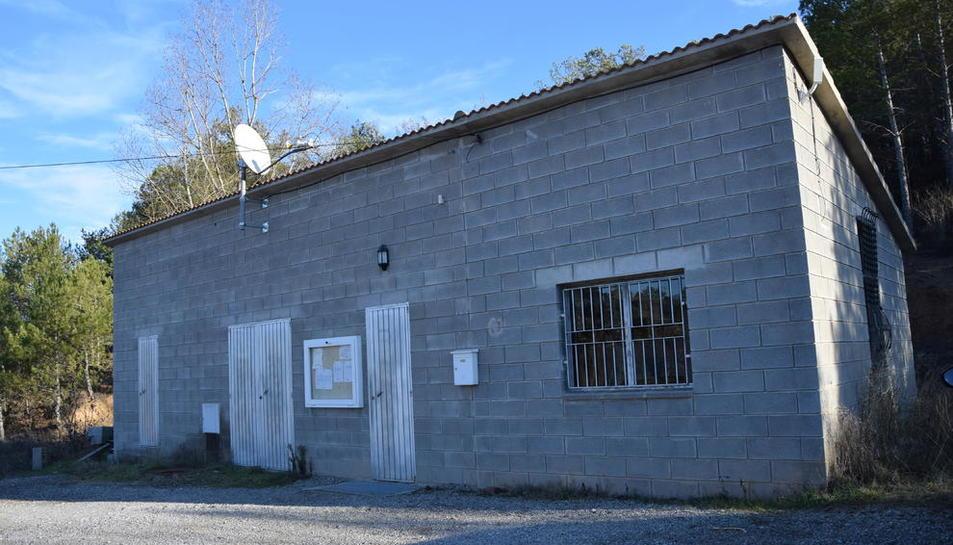 Imatge d'arxiu del magatzem que acull l'ajuntament.