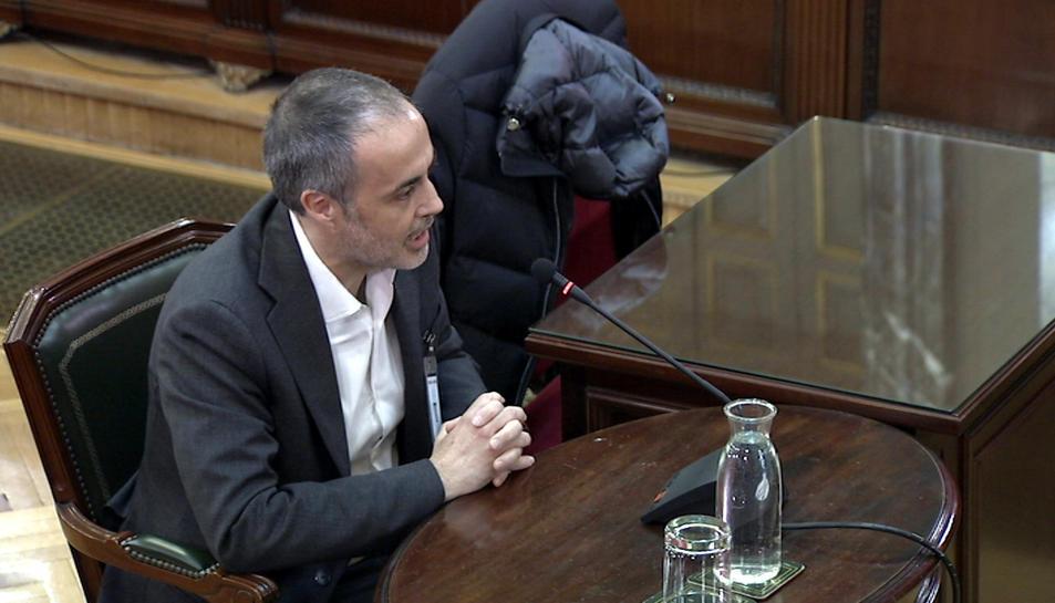 Joan Vidal, aquest dimarts al Tribunal Suprem com a testimoni del judici del 'procés'.