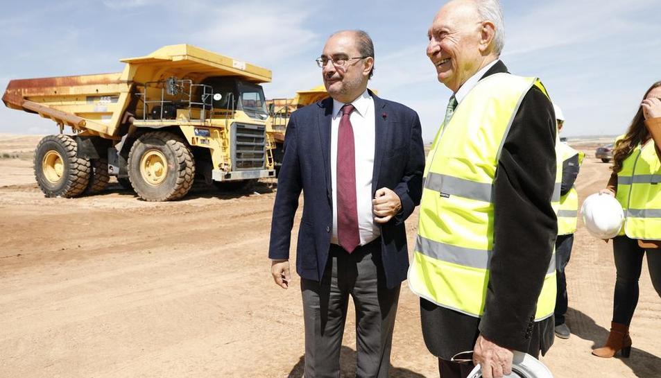 Lambán con el presidente de bonÀrea Agrupa, Jaume Alsina.