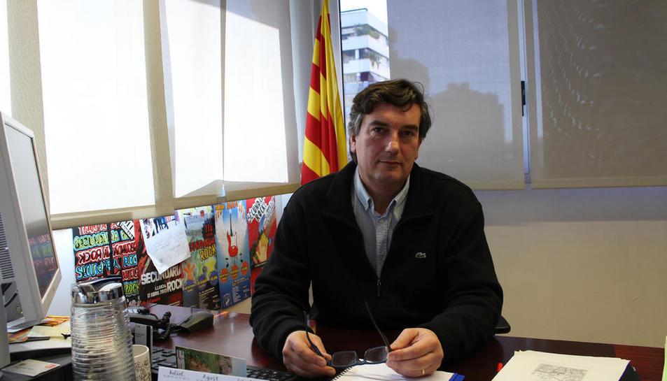 Foto de archivo de Miquel Àngel Cullerés en su época en Enseñanza.