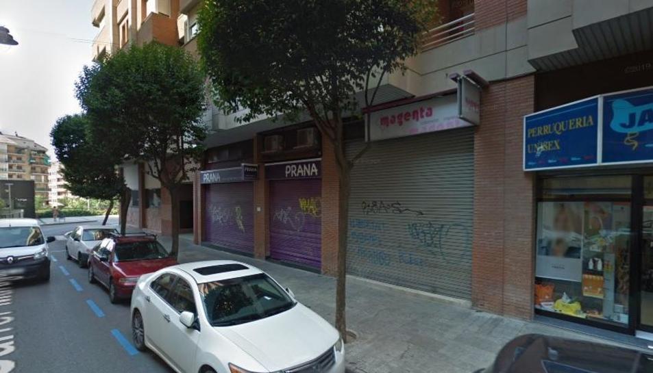 Vistes del carrer Maragall, on va tenir lloc el robatori.