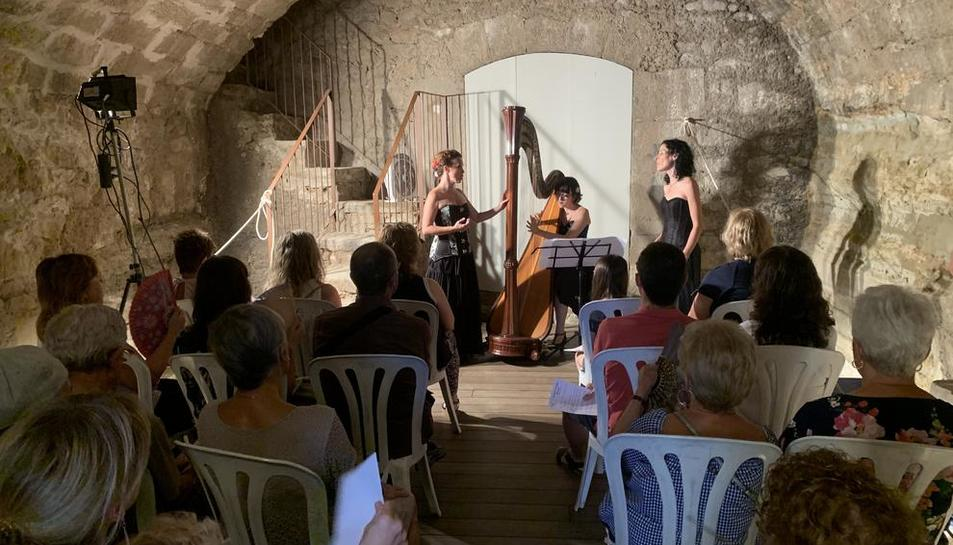 Actuació del grup 53 Cordes, dissabte, a les Borges Blanques.