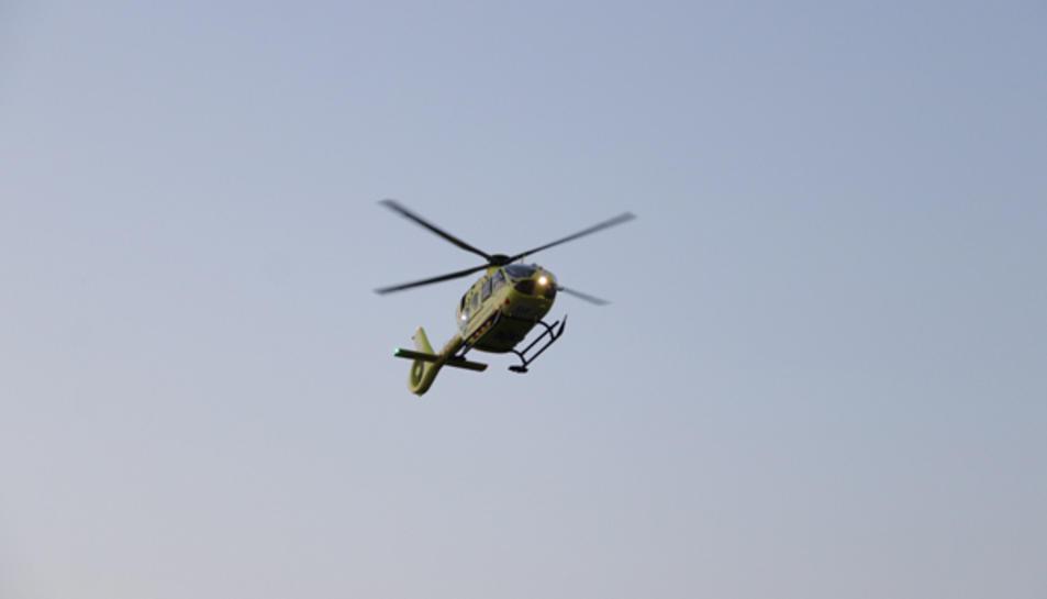 Un helicóptero del SEM.