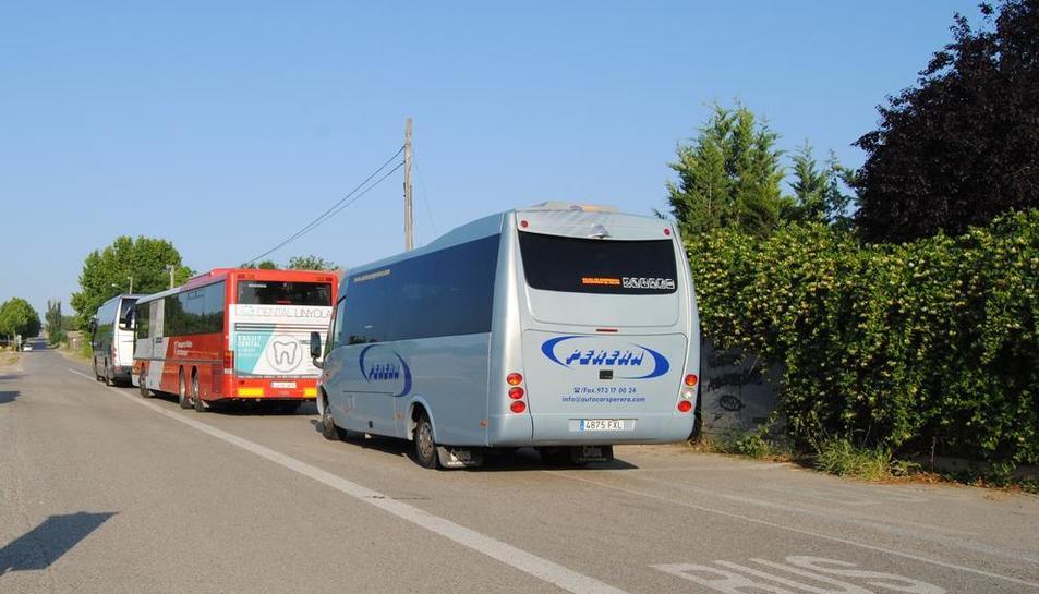 Servicio de autobús en La Serra.