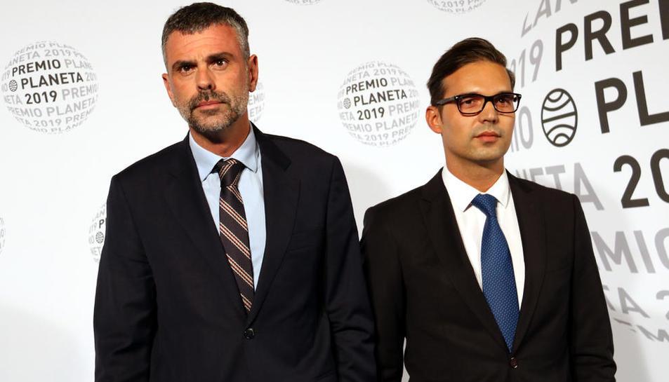 Santi Vila, dimarts en l'entrega del premi Planeta de novel·la.