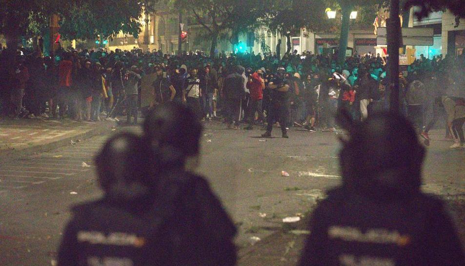 Divuit detinguts a Lleida després d'una altra nit d'aldarulls