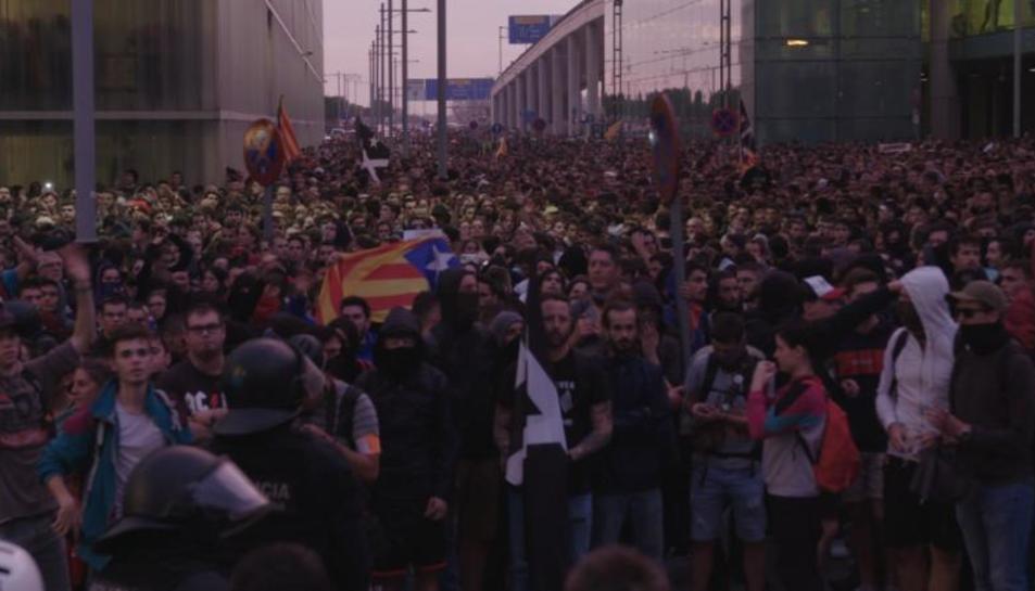 Manifestacions multitudinàries produïdes a tot Catalunya.