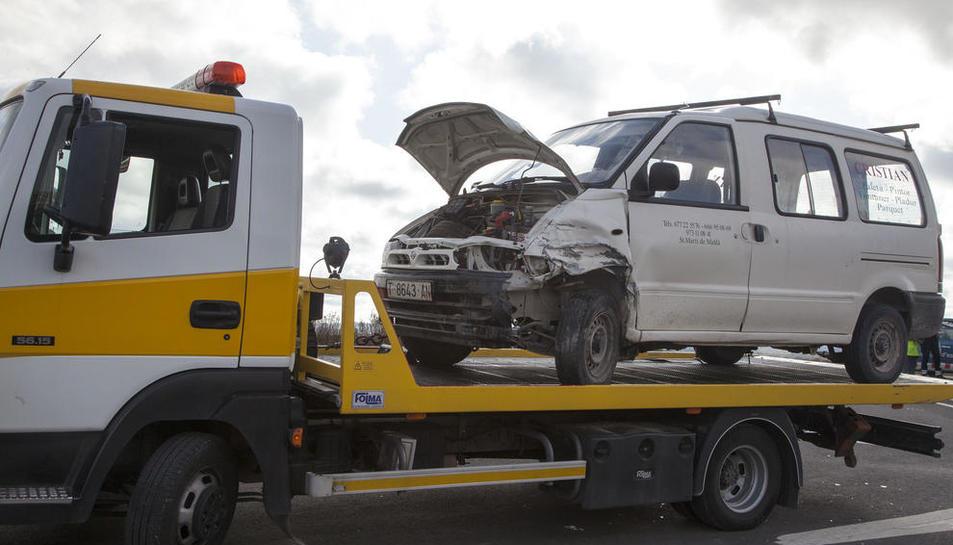Imagen de uno de los vehículos implicados en el siniestro.
