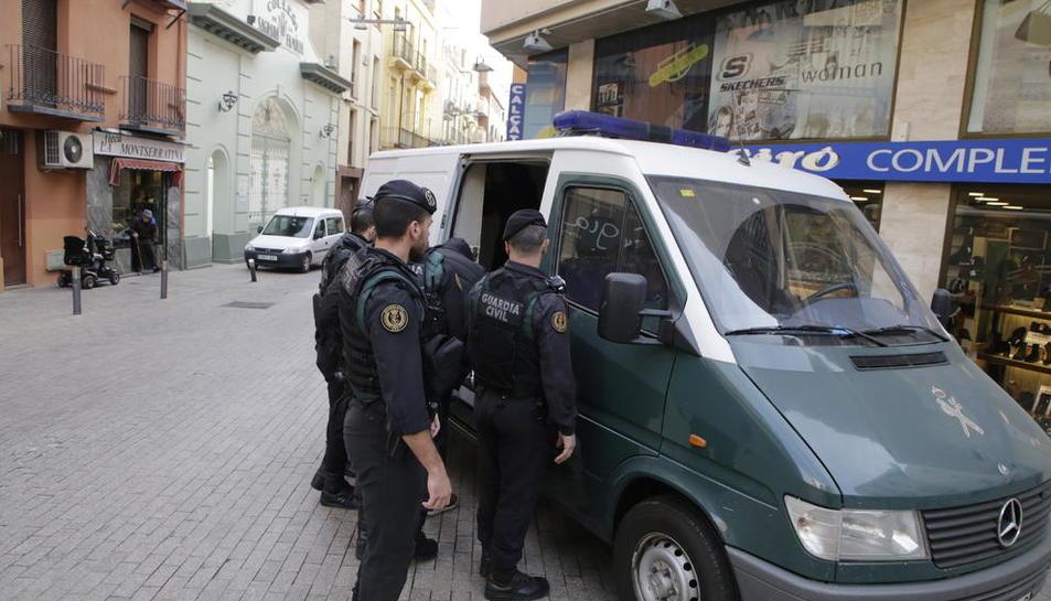 Imatge de la batuda antidroga de dimecres a Lleida.