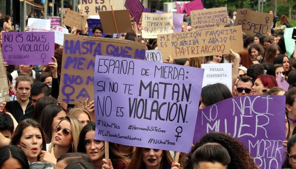 Imagen de archivo de una protesta contra la violencia machista.