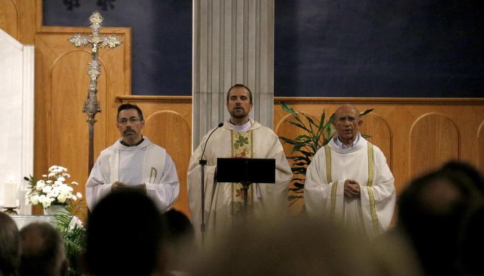 Imatge d'arxiu del bisbe de Solsona, Xavier Novell, al centre.