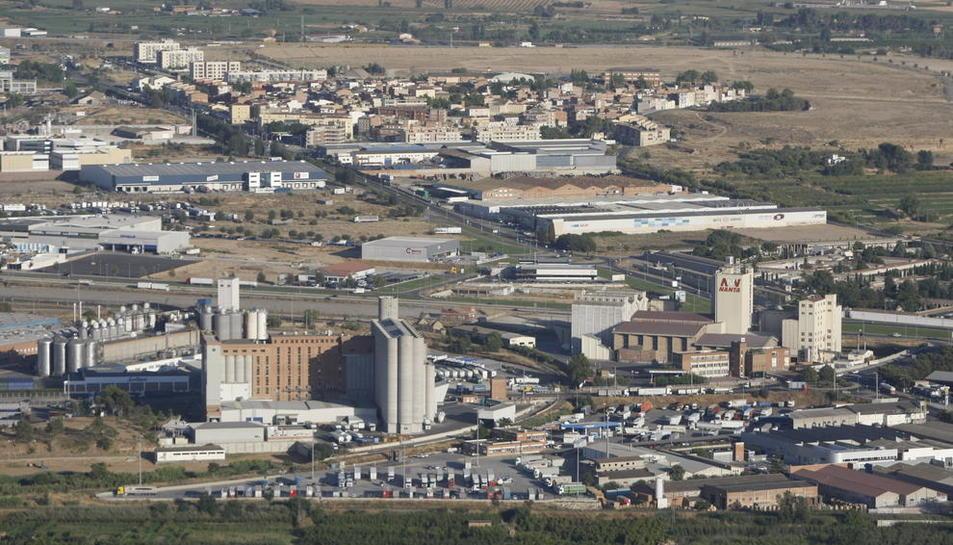 Vista del polígon industrial del Segre a Lleida.