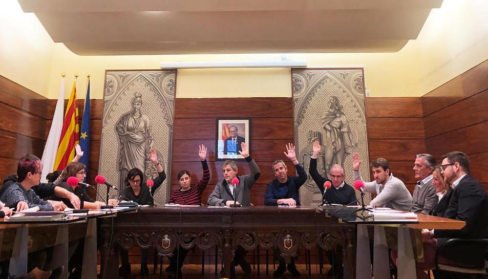 Moment de la votació dels pressupostos a l'últim ple.