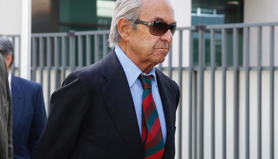 L'expresident de Bankinter a l'arribar ahir al jutjat.