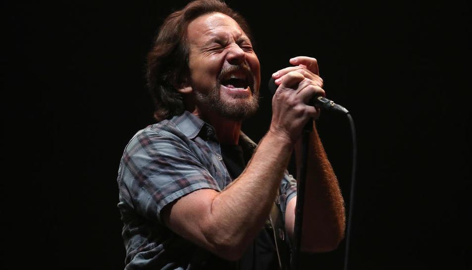 El cantant Eddie Vedder, al capdavant de la banda Pearl Jam.