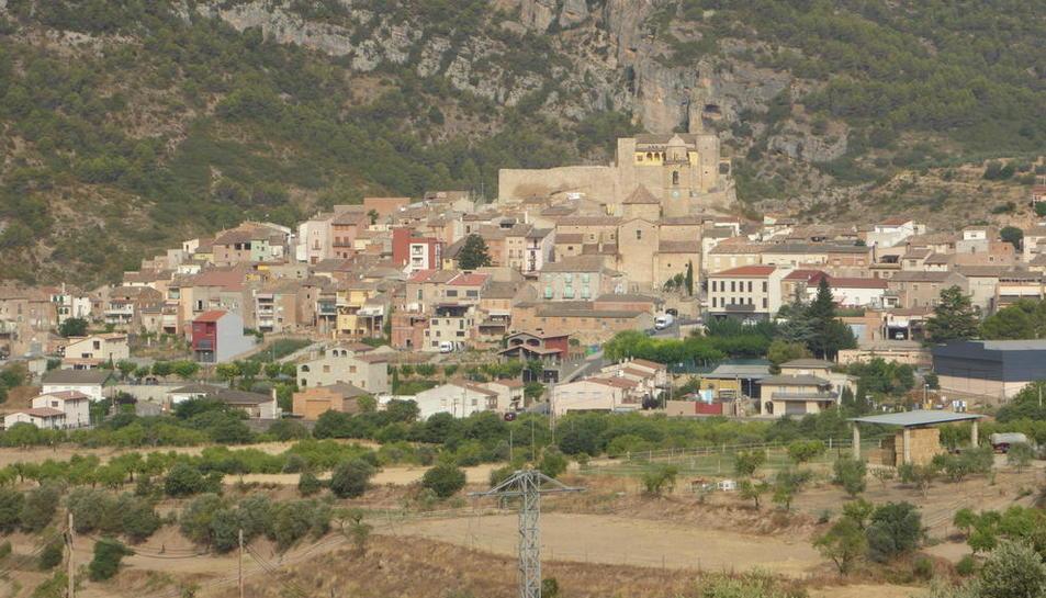 Vista del poble d'Os de Balaguer.