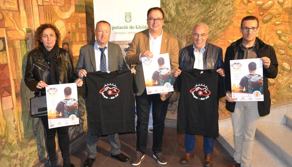 La cuarta edición de la prueba se presentó ayer en la sala de prensa de la Diputación.