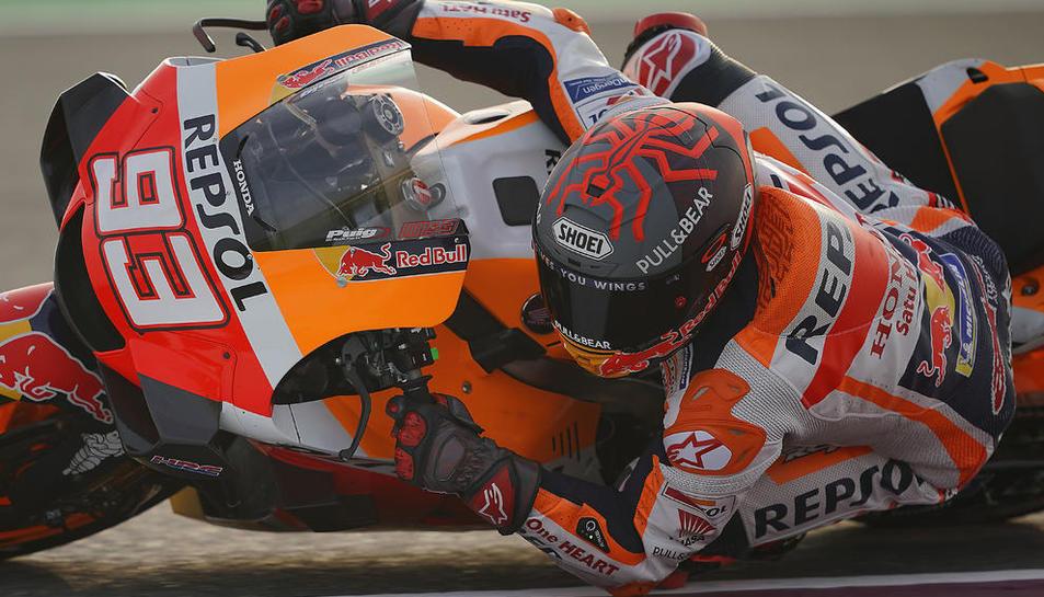 Márquez utilizó piezas de la moto de 2019 para buscar soluciones a los problemas de su Honda.
