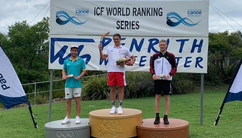 Pau Echaniz, or a la categoria sub-23 de l'Open d'Austràlia