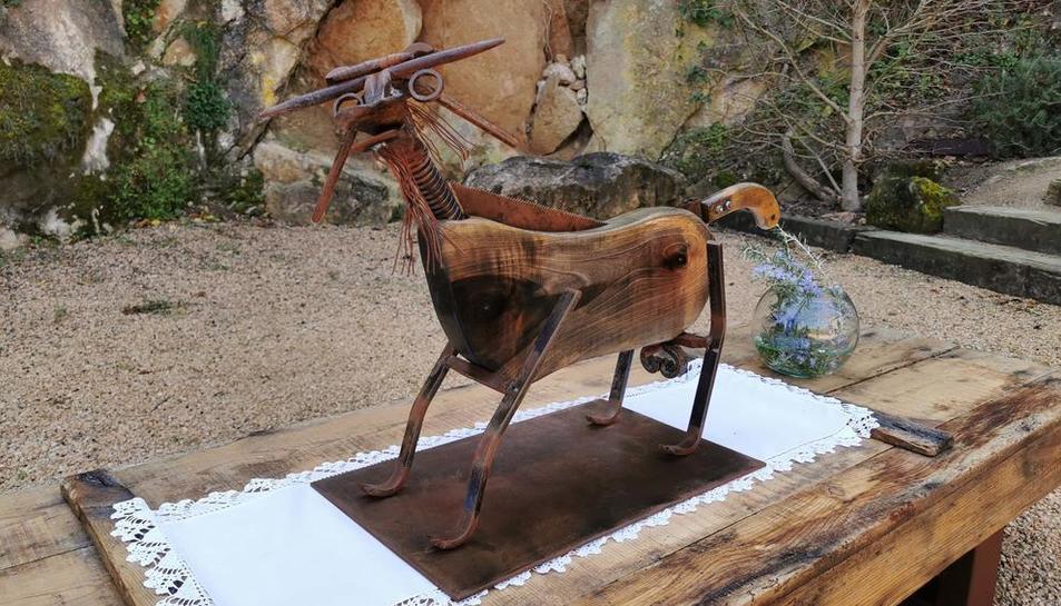 La 'Cabreta del Montsec' és una de les vint obres que Marcos va presentar ahir a internet.